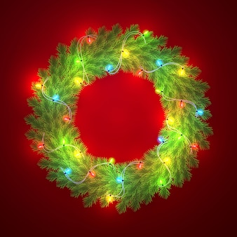 新年とクリスマスリース