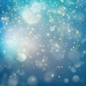 Новый год и рождество золотая пыль. рождественский золотой праздник светящийся фон. а также включает в себя