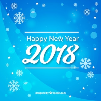 New year background 2018