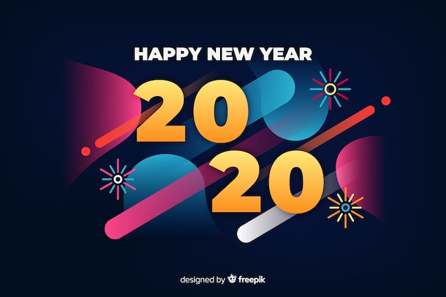 New year background in flat design