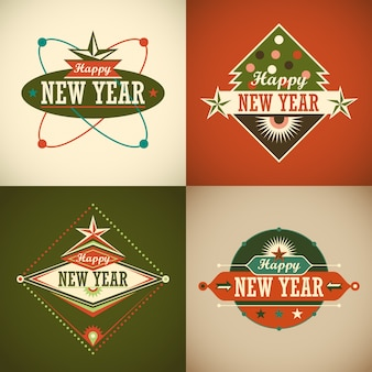 New year background set