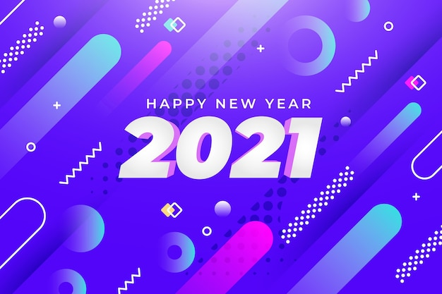 New year background with abstract shapes