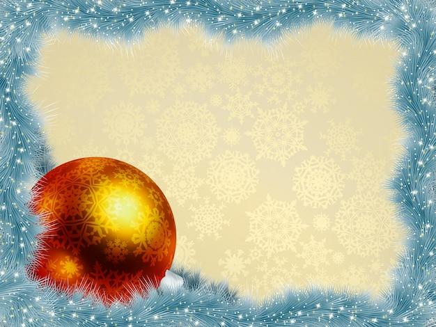 Новогодний фон с мячом.