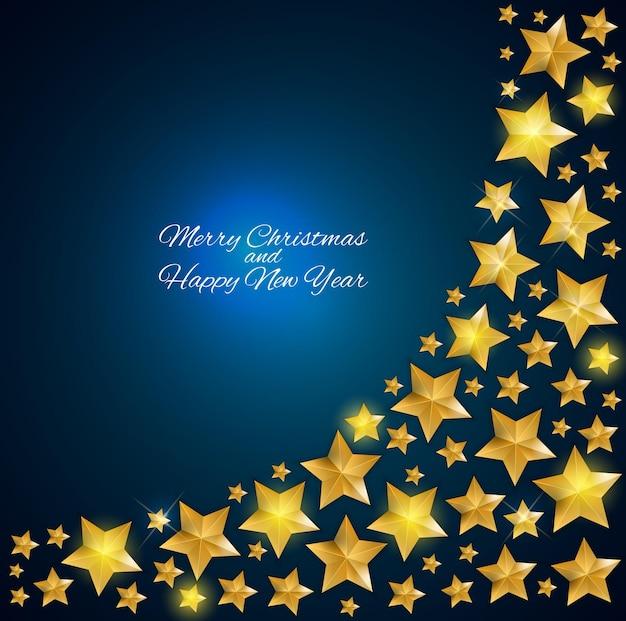 크리스마스 스타와 함께 새 해 배경입니다. 벡터 일러스트 레이 션 eps10