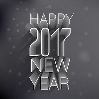 New year background with embossed numbers