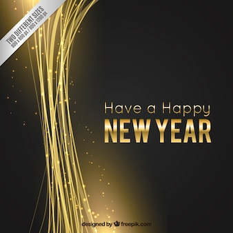 New year backrgound in golden and black color