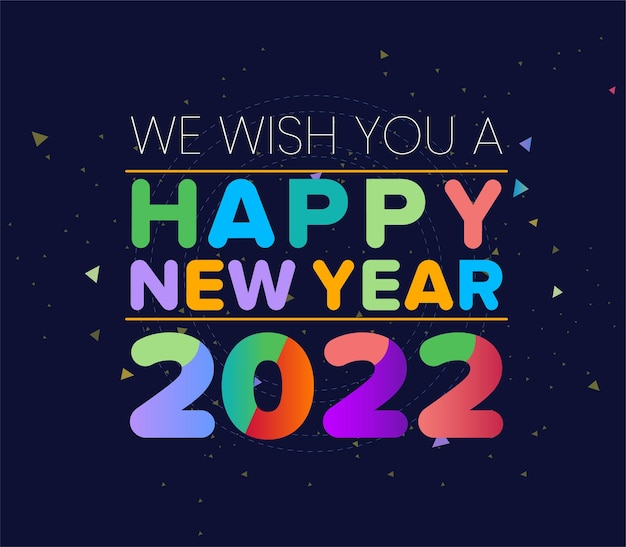 New year banner 2022 or happy new year 2022