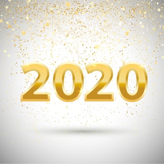 New year or banner with metallic gold