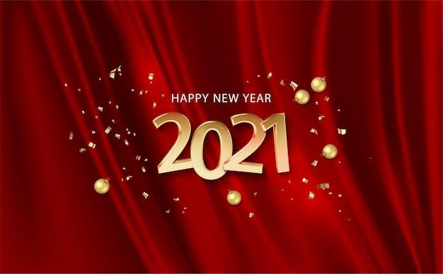 ボリューム番号付きの新年のバナー