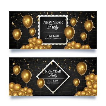 New year banners template