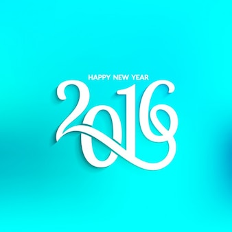 New year blue background