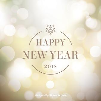 New year bokeh background