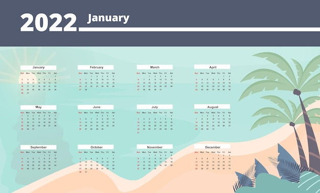 New year calendar 2021 with flower decoration free vector