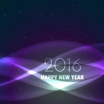 Scheda di nuovo anno in grande stile ondulato