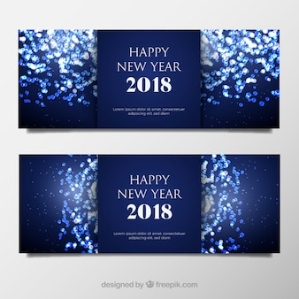 New year celebration banners
