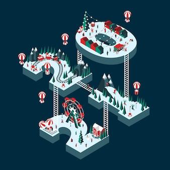 Иллюстрация празднования нового года
