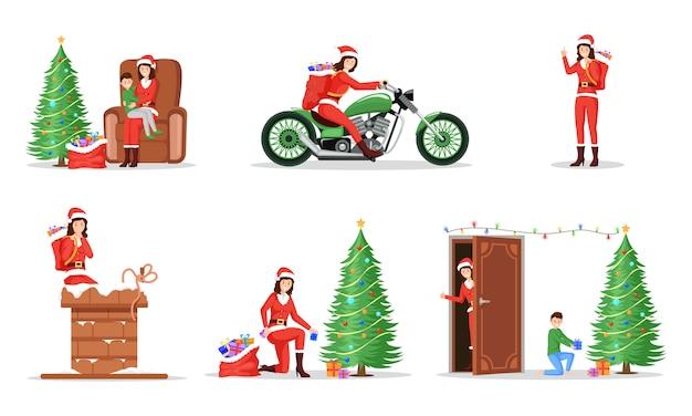 New year celebration illustrations set