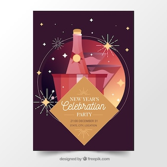 New year celebration party banner