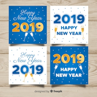 New year cheers cards pack