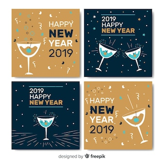 New year cheers cards