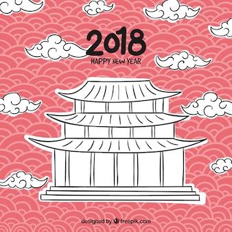 New year chinese 2018 background