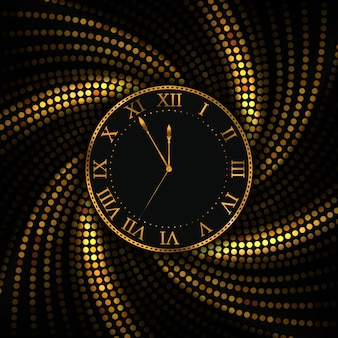 New year and christmas background gold watch