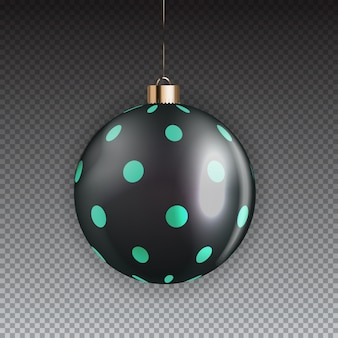 New year and christmas ball on transparent background.  illustration