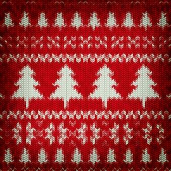 Новогоднее рождественское украшение. рождественский шаблон вязаный фон. иллюстрация к дню нового года, рождеству, зимнему празднику, канун нового года, серебристому цвету и т.д.