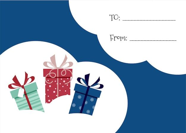 텍스트 기호에서 새 해 크리스마스 엽서 인사말 카드