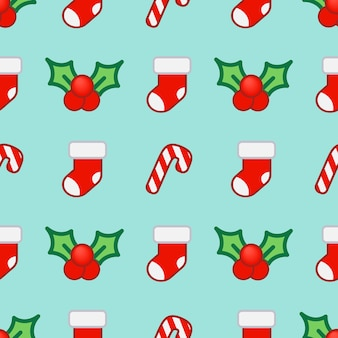 New year and christmas seamless pattern.