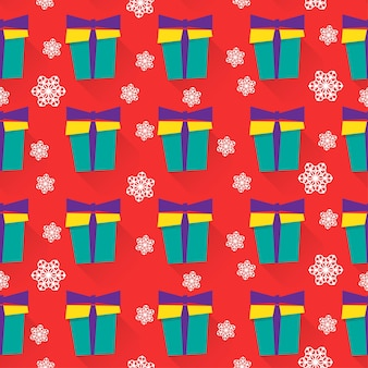 New year or christmas wrapping paper or fabric seamless pattern background