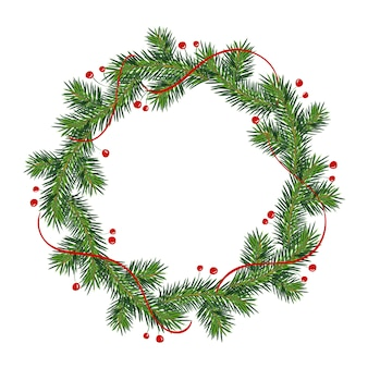 New year and christmas wreath