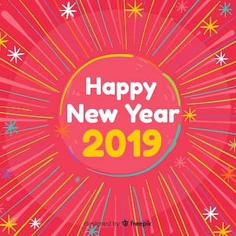 New year colorful rays background