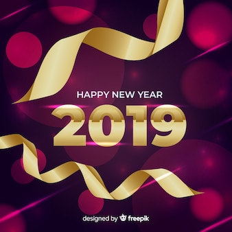 New year composition with elegant style