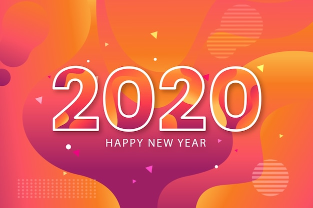 New year concept in flat design