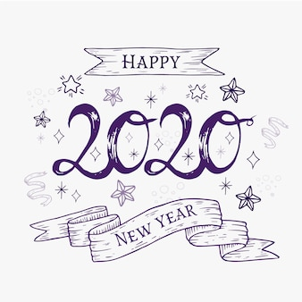 New year concept with vintage design