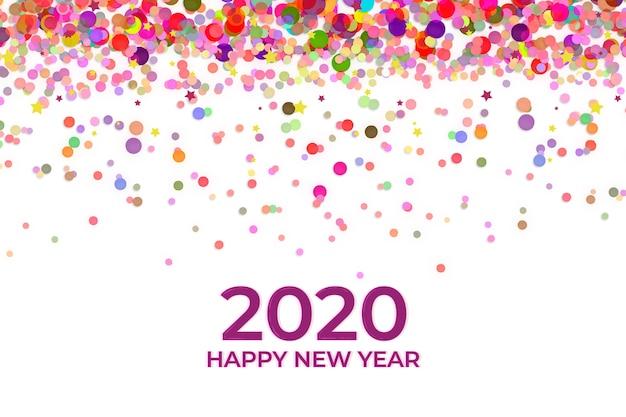 New year confetti background