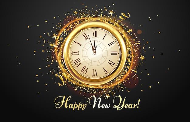 New year countdown watch.