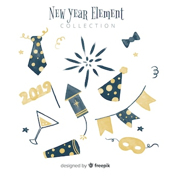 New year element collection