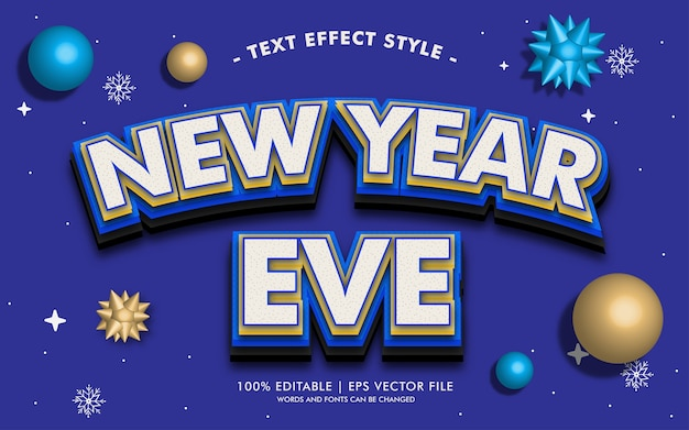 New year eve text effects style