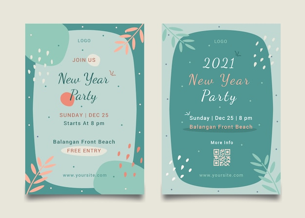 New year event poster template