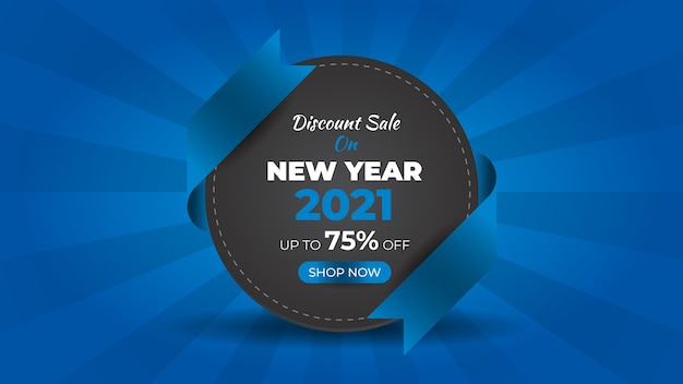 New year fashion sale web banner and background design template
