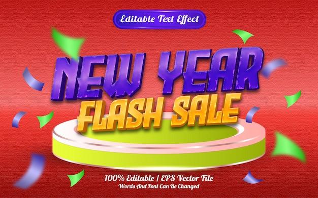 Новогодняя распродажа в стиле шаблона с редактируемым текстовым эффектом