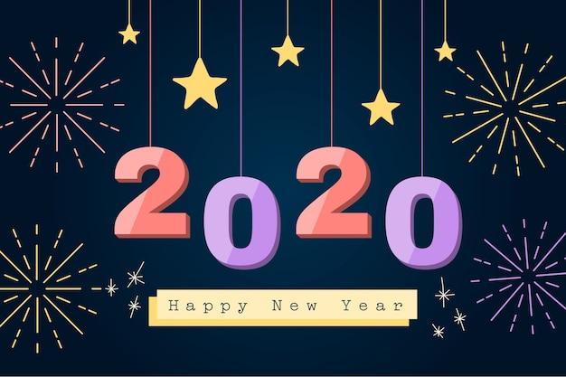 New year flat design background