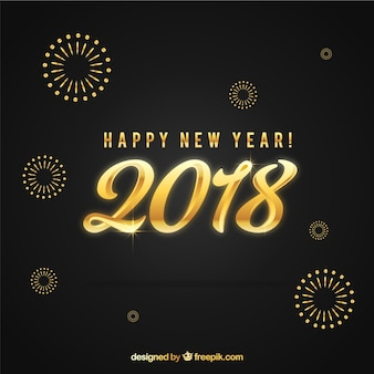 New year golden background in abstract style