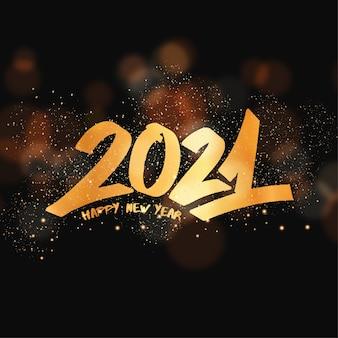 Cartolina d'auguri di nuovo anno con graffiti lettering