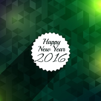 New year greeting with green background