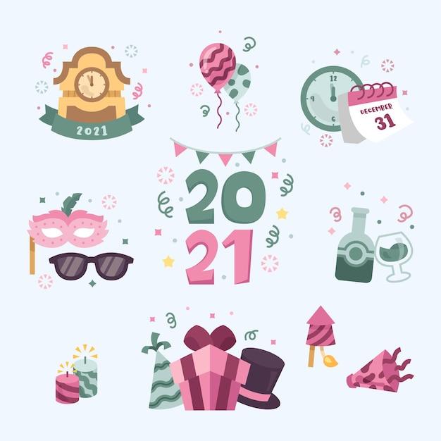 New year hand drawn element theme