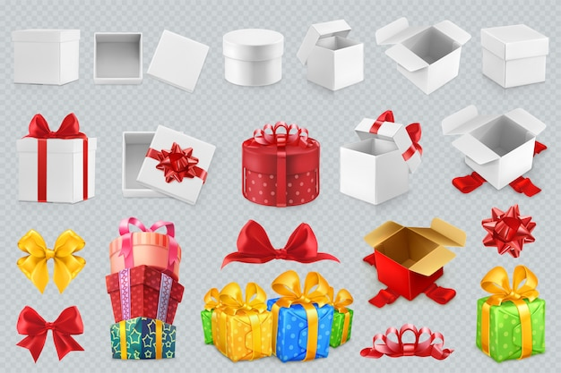 New year holiday present boxes