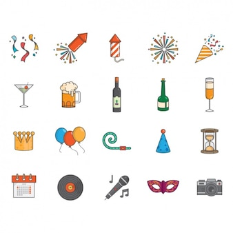 New year icons collection